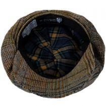 Patchwork English Tweed Wool Big Baker Boy Cap in