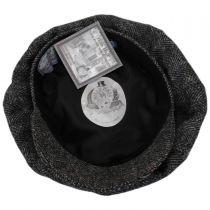 Oxford Herringbone English Tweed Wool Baker Boy Cap in