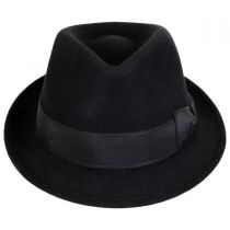 Tear Drop Wool Felt Trilby Fedora Hat alternate view 2
