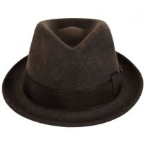 Tear Drop Wool Felt Trilby Fedora Hat alternate view 6