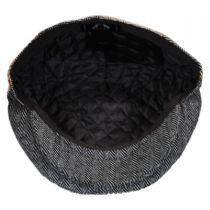Herringbone Patchwork Wool Blend Ivy Cap in