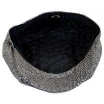 Herringbone Pure Wool Newsboy Cap