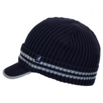 Ribbed Visor Knit Beanie Hat in