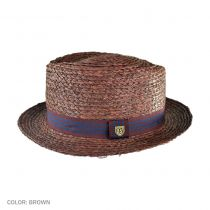 Delta Diamond Crown Pork Pie Straw Hat