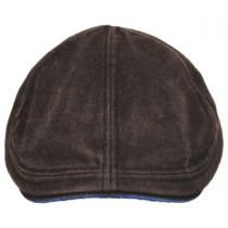 Washed Cotton and Suede Pub Duckbill Ivy Cap in