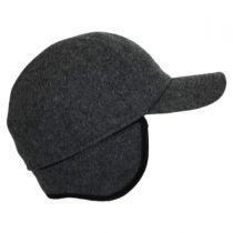 Melton Wool Earflap Baseball Cap in