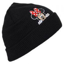 Minnie Peek Knit Cuff Beanie Hat in