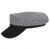 Striped Cotton Sailor's Cap - Contrast Bill alternate view 3