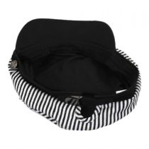Striped Cotton Sailor's Cap - Contrast Bill alternate view 4