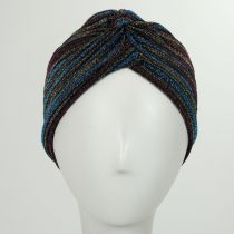 Metallic Stripe Turban in