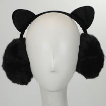 Cat Velvet and Faux Fur Earmuffs in