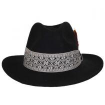 Fairisle Band Wool Felt Fedora Hat in