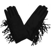 Fringe Faux Suede Texting Gloves alternate view 2