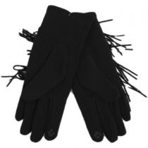 Fringe Faux Suede Texting Gloves alternate view 3