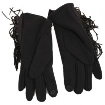 Fringe Faux Suede Texting Gloves alternate view 6