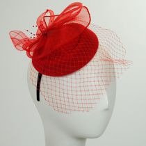 Netting Veil Felt Fascinator Headband alternate view 5