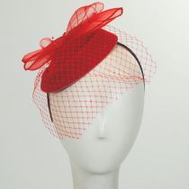 Netting Veil Felt Fascinator Headband alternate view 6