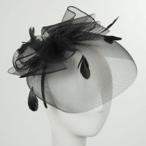 Bow and Feather Fascinator Headband in