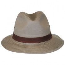 Packable Cotton Twill Safari Fedora Hat alternate view 2