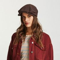 Seth Wool Blend Leather Strapback Ivy Cap in