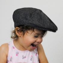 Baby Herringbone Wool Blend Newsboy Cap in