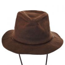 Penn Waxed Cotton Safari Fedora Hat in