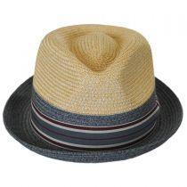 Rokit Toyo Straw Braid Trilby Fedora Hat alternate view 6