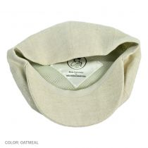 Linen Newsboy Cap in