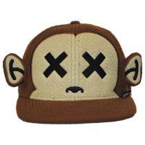 Monkey Furry Snapback Baseball Cap in