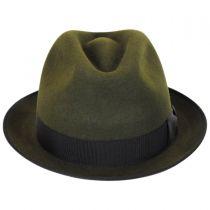Alex Fur Felt Stingy Brim Fedora Hat in