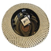Wasser Two-Tone Panama Straw Fedora Hat in