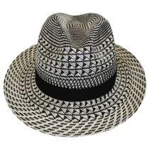 Arsun Two-Tone Straw Fedora Hat alternate view 2