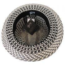 Arsun Two-Tone Straw Fedora Hat alternate view 4