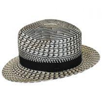 Arsun Two-Tone Straw Fedora Hat alternate view 7