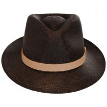 Gelhorn Panama Straw Tear Drop Fedora Hat in