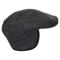 Herringbone Wool Earflap Ivy Cap alternate view 11