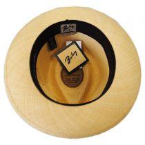 Gelhorn Panama Straw Tear Drop Fedora Hat in
