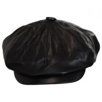Noclin Leather Newsboy Cap alternate view 6
