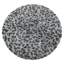 Leopard Print Angora Beret alternate view 4