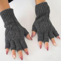 Pattern Knit Fingerless Gloves alternate view 2