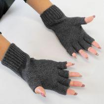 Pattern Knit Fingerless Gloves alternate view 3