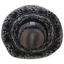 Python Wool Felt Fedora Hat in