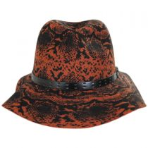 Python Wool Felt Fedora Hat alternate view 6