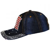 Studded Flag Strapback Baseball Cap Dad Hat alternate view 3