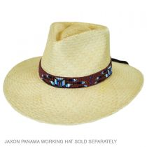 Demi-Star and Feather Beaded Hat Band in