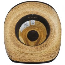 Kimball Palm Leaf Straw Western Hat in
