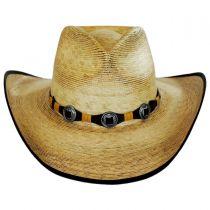 Kimball Palm Leaf Straw Western Hat alternate view 2