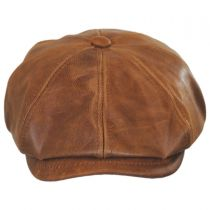 Goat Leather Newsboy Cap alternate view 2