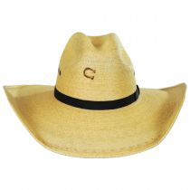 Maverick Palm Leaf Straw Western Hat in