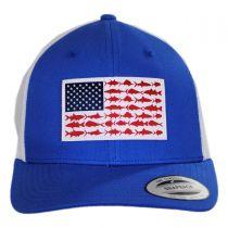 PFG Fish Flag Mesh Snapback Baseball Cap in